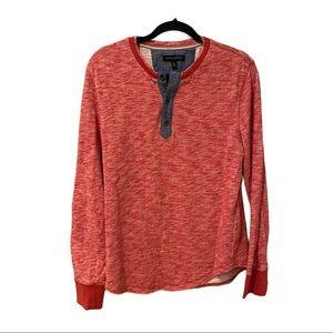 Banana Republic Thermal Red Henley Shirt (M)